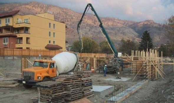Supply and Pumping Concrete by Osoyoos Ready at Local Housing Development Sole Vita